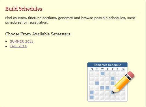 how to build schedule in mcgill